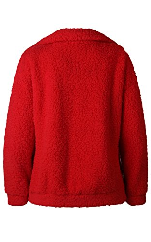 Rot Lunga Ecowish Donna Cappotto Manica I811Fx