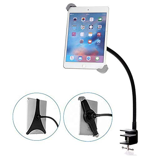 Gooseneck Tablet Holder Mount, BESTEK Fully Rotatable iPad Holder Clamp Stand for iPad 2/3/4/iPad Air/2/iPad Mini 1/2/3/4 and Other 7-10 inch Tablets by BESTEK