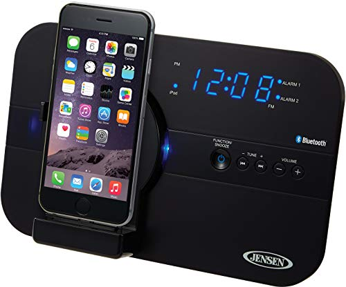 Jensen JiLS-525iB Bluetooth Docking Digital Music System for Lightning Connector Devices (Ipod Dock Lightning Connector)