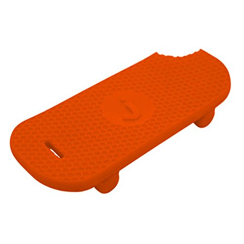 Jellystone Designs Skateboard Silicone Teether - Carrot