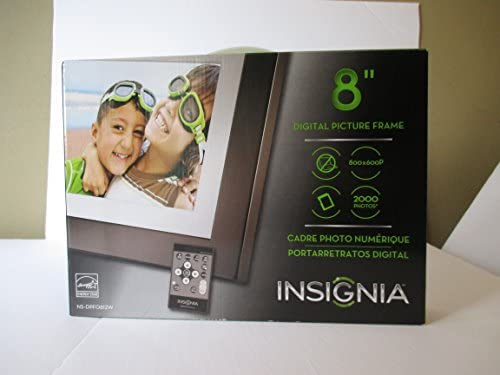 Insignia 8 Digital Picture Frame with Remoter 2 Gb Storage Black