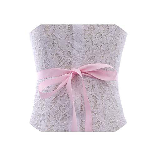 (Vicky Pearls Wedding Belt Rose Gold Crystal Bridal Belt Rhinestones Wedding for Bridal Bridesmaid Dresses,Pink)