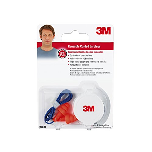 3M 90586 00000T Corded Reusable Earplugs
