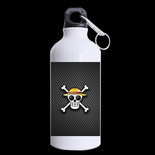 one piece cartoon straw hat pirates logo printed aluminum sports bottles travel mug best equipment to outdoor (Cartoon Pirate Hat)