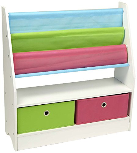 Mind Reader Toy Storage Organizer Kids Book Organizer wth Folding Drawers for Toddler Toys by Mind Reader