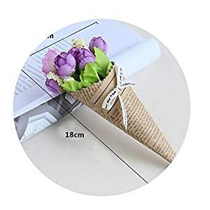 Sevem-D Mini Paper Tube Flower Wedding Pure and Fresh Decoration Bouquet Dried Flowers Birthday Present,B 39