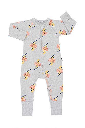 Marle Zip - Bonds Baby Zip WONDERSUIT Zero to Hero Grey Marle