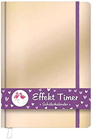 """ROTH Schülerkalender Effekt Timer /""""Gold Glanz/"""" DIN A6"""