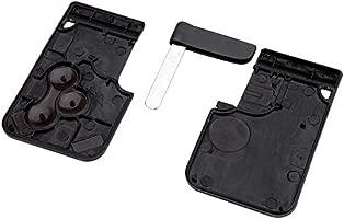 SODIAL(R) Caja de llave Llavero Cascara de llave Tarjeta de llave sin llave de hoja de coche remoto de 3 Botones Sin cortar de Reemplazo para Renault ...