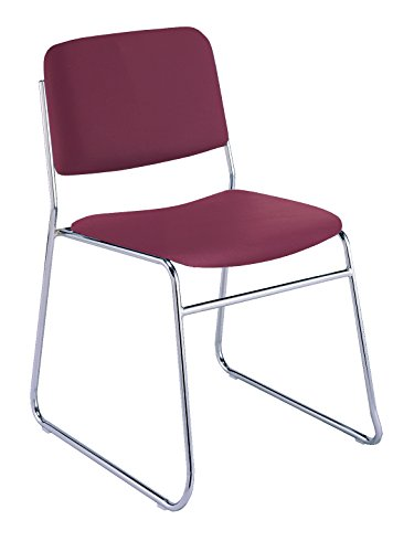 - KFI Seating 310 Armless Stacking Chair Sled Base, Commercial Grade, Burgundy Vinyl, Made in the USA