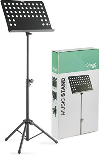 Stagg Heavy Duty Orchestral Music Stand - Black Vented
