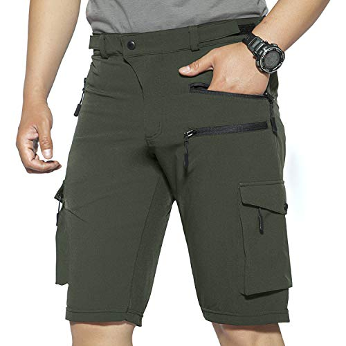 Mens Hiking Shorts Climbing Shorts with Zipper