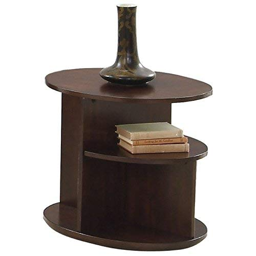 (Progressive Furniture P474-03 Metropolitan Oval End Table, Dark Cherry and Birch)
