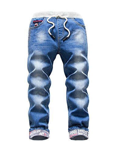 Premium Skinny Boys Jeans Slim Fit Pants for Toddlers Kids and Teens (2T, Nice LT) by HOLLAGLEE (Image #1)