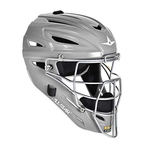 All-Star Mvp2500 Catchers Helmets Silver by All-Star