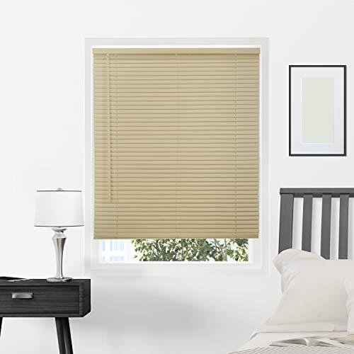 - CHICOLOGY Horizontal Venetian Slat Window Shade Cordless 1-Inch Vinyl Mini Blinds Gloss Cappuccino 32 X 64 32