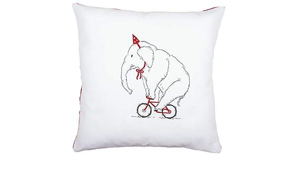 Vervaco – Kit para cojín de Elefante en Bicicleta Bordado Kit ...