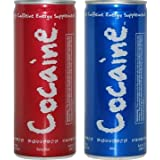 Cocaine Energy Drink 6 Pack = 3 SPICY FLAVOR AND 3 MILD FLAVOR by Cocaine