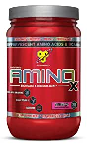 BSN AMINO X Endurance & Recovery Powder with 10 Grams of Aminos Per Serving, Flavor: Watermelon, 30 Servings