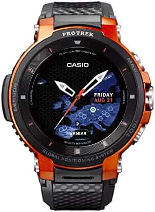 Casio Pro Trek Stainless Steel Quartz Watch with Resin Strap, Black (Model: WSD-F30-RGBAU