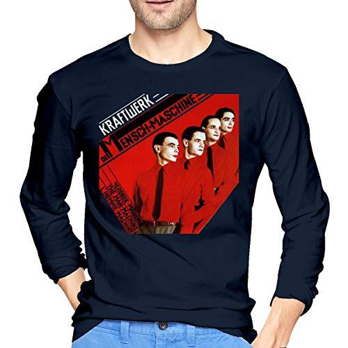 KegamiMisa Men's Kraftwerk Long Sleeves T Shirts L