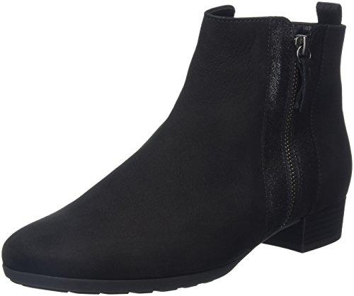Sport Gabor Shoes Comfort Femme Bottes Schwarz Chelsea Micro Noir RpEqwS
