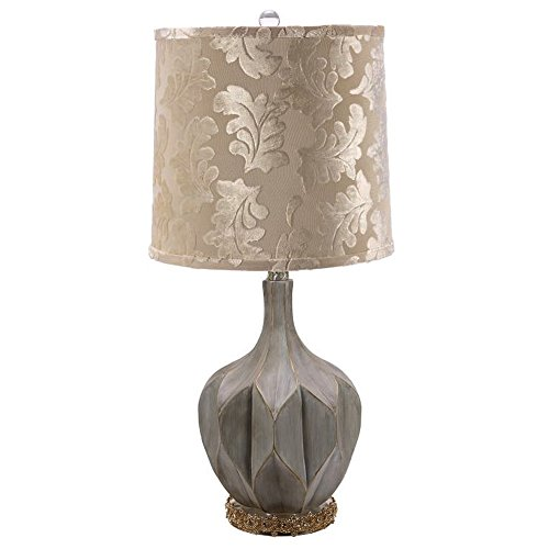 - Octagonal Fluted Lamp w Jeweled Base 28 Inch by Mark Roberts 75-60504