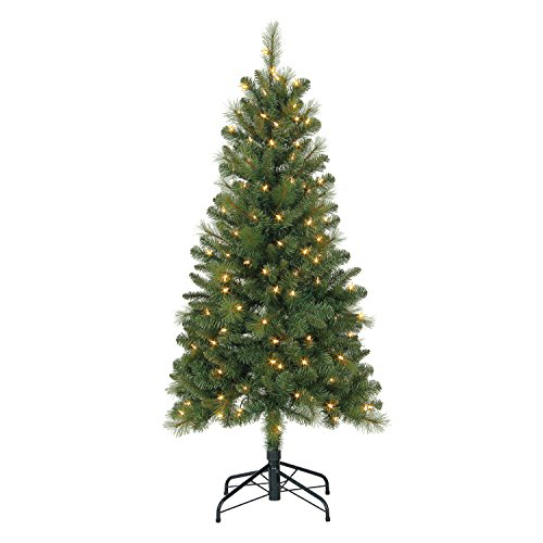 Evergreen Classics 5' Lansing Pre-Lit LED Mixed Needle Artificial Christmas Tree
