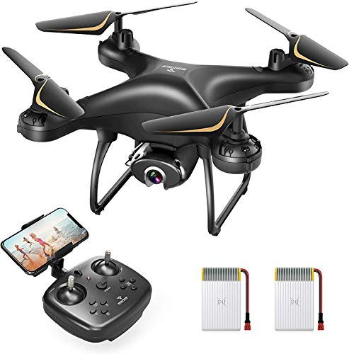 SNAPTAIN SP650 2K Drone with Camera for Adults 2K HD Live Video Camera Drone for Beginners w/Voice Control, Gesture…
