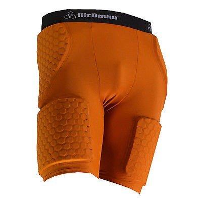 McDavid 7580T Men's Thudd Hexpad Shorts Extended Thigh TEXAS ORANGE X-Large (Pads Knee Orange Mcdavid)