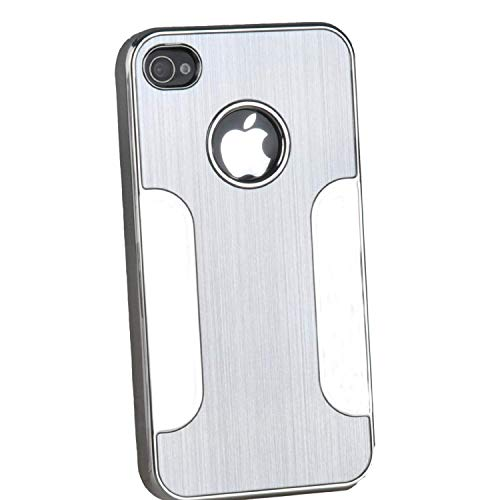 e Premium Chrome Aluminum Hard Case for Apple Iphone 4/4g/4s -Silver ()