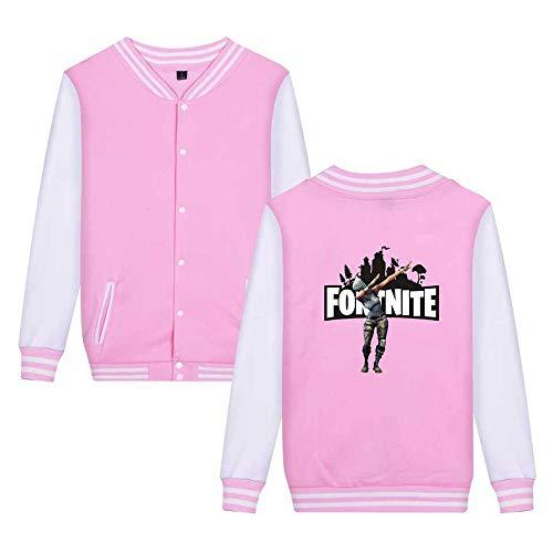 Pink6 Fortnite Aivosen Unisex Sweatshirts Semplice Stampate Giacca Moda Leggera Baseball Unicorno Da Casual Comode px1wBAqT