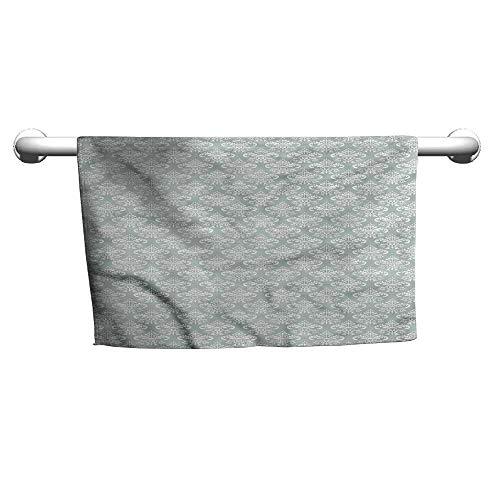 flybeek Style Towel Damask,Oriental Culture Pattern,Towel Shelf for Bathroom