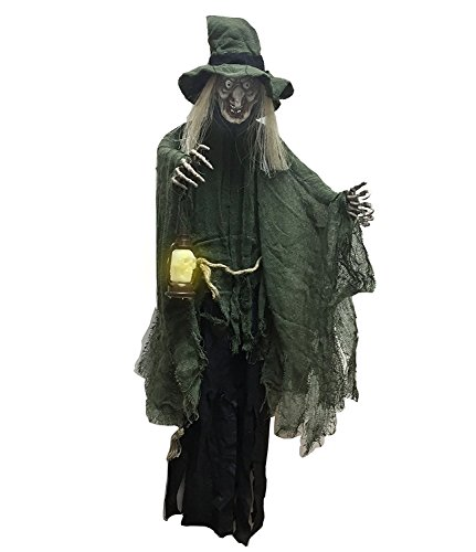 "Hanging Witch Halloween Decoration Light up Lamp Halloween Witch Prop's the Perfect Outdoor Halloween Decor Party Idea for a Memorable Time, Haunt Your Guests 42""-00221"