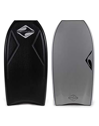 Toobs Drive Comp (DC) 42 inch Crescent Tail Bodyboard Black/Silver by Toobs