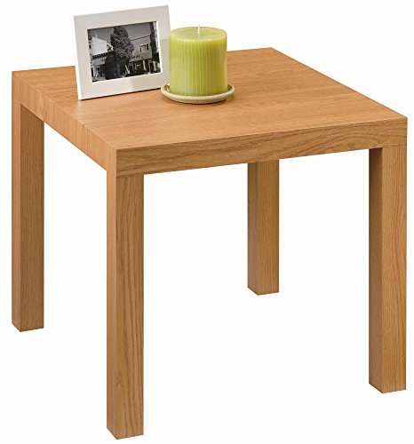 DHP Parsons Modern End Table, Multi-use Toolless Assembly, Natural Stain ()