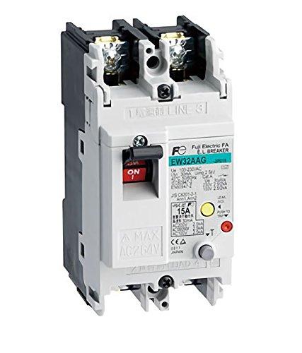 Fuji Electric, EW32AAG-2P005A, Earth-leakage Circuit Breaker 2 Pole 5A 230VAC - Fuji Circuit Breaker