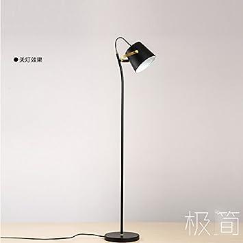 GUTOU-LDD Lámpara de pie Personalidad Hierro Negro Moderno ...