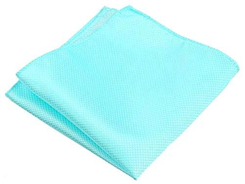 - Flairs New York Gentleman's Essentials Weekend Casual Pocket Square Handkerchief (Tiffany Blue [Diamonds Texture])