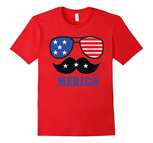 Merica-Fourth-of-July-Cool-Shades-Mustache-T-Shirt