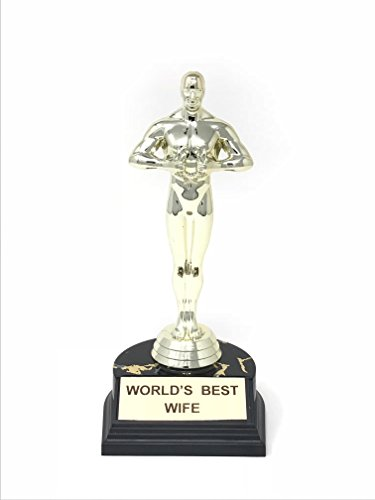 World's Best Trophy 10.5 Inch (World's Best Wife) (Trophy For Best Wife)