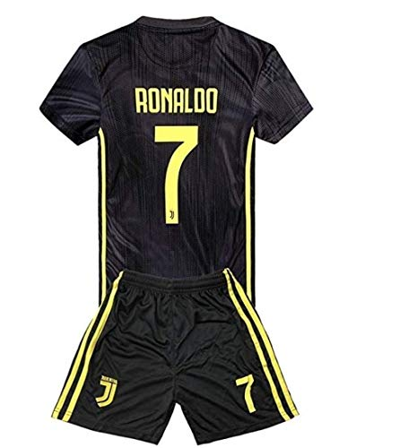 7073374ea6ac9 Juventus Ronaldo 7 Uniform Soccer Jersey and Short for Kids Season 2018-2019  Best Soccer