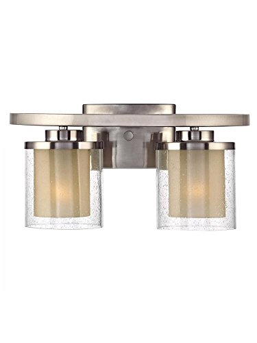 Dolan Designs 3952-09 Horizon 2 Light Bathroom Fixture, Satin Nickel