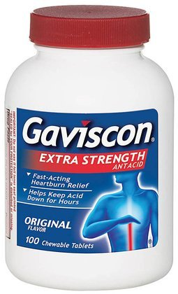 - Gaviscon Extra Strength Chewable Antacid Tablets-100 ct.