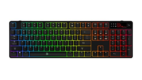 Thermaltake Tt e Sports Poseidon Z RGB Software Controlled 16.8 Million Color Brown Switches Mechanical Gaming Keyboard KB-PZR-KBBRUS-01