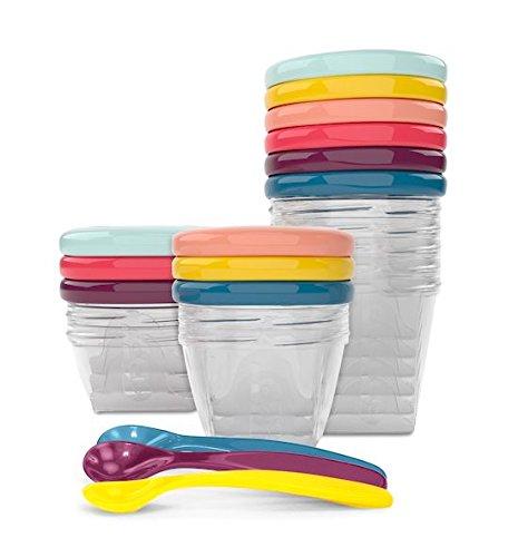 Babymoov Babybol Multi Set Lot de Pots de Conservation Hermétiques pour Bébé 3x 120ml 3x 180 ml 3x 250ml et 3 Cuillères Souples product image