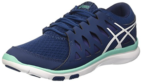 Tempo fit 2 Poseidon Blu Gymnastique femme Cockatoo White Gel Asics wBE6pp