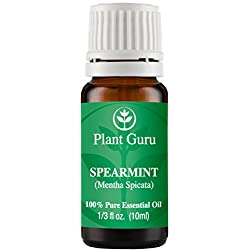 Spearmint Essential Oil 10 ml. 100% Pure, Undiluted, Therapeutic Grade.