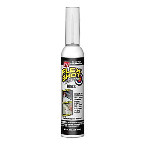 Flex Shot VC0S2 FBA_30803 Rubber Adhesive Sealant Caulk, Black, 1 Pack, (Best Acrylic Blacktop Sealer)