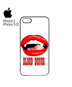 Blood Donor Sexy Red Lips Vampire Cell Phone Case Cover iPhone 5&5s White